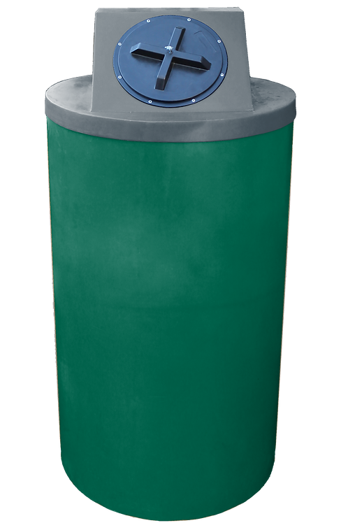 Hunter Green Big Bin with Dark Gray Lid