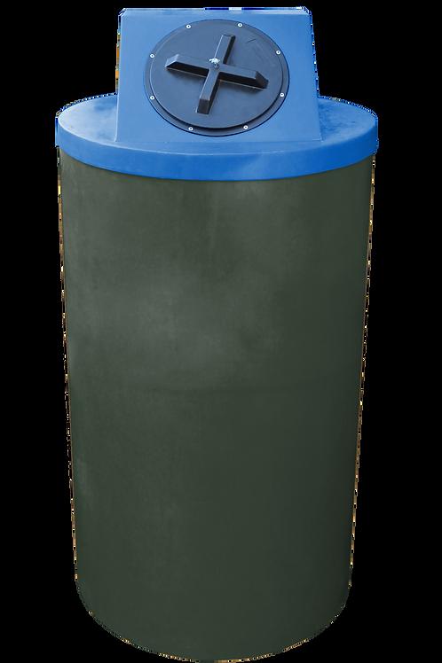 Bottle Green Big Bin with Royal lid
