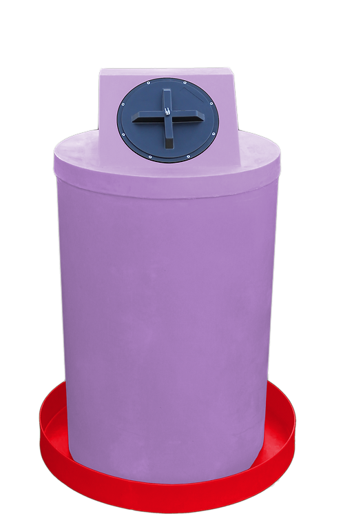 Purple Drum Crown with Red spill pan