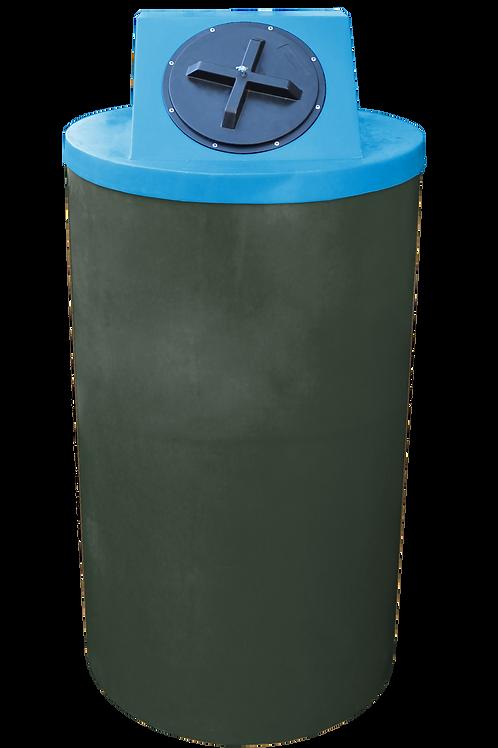 Bottle Green Big Bin with Cadet Blue lid