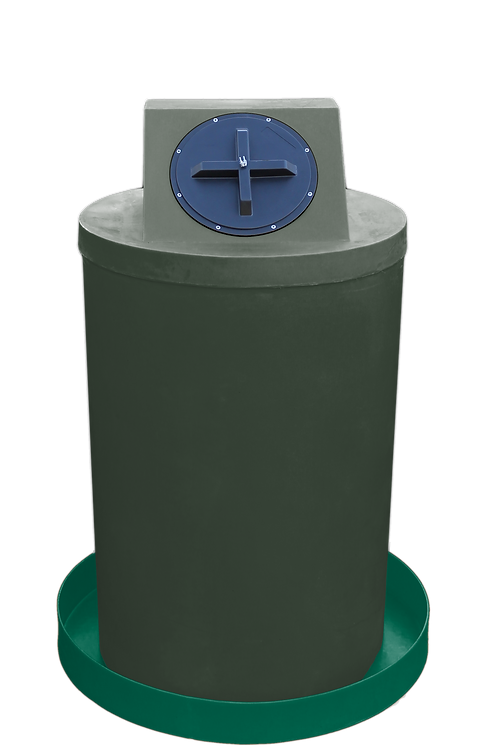 Bottle Green Drum Crown with Hunter Green spill pan