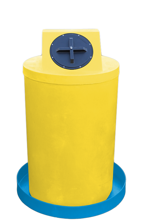 Yellow Drum Crown with Cadet Blue spill pan