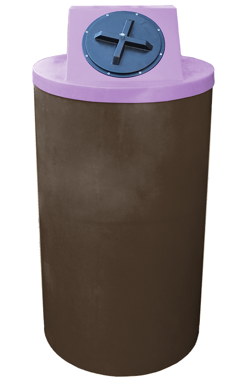 Brown Big Bin with Purple Lid