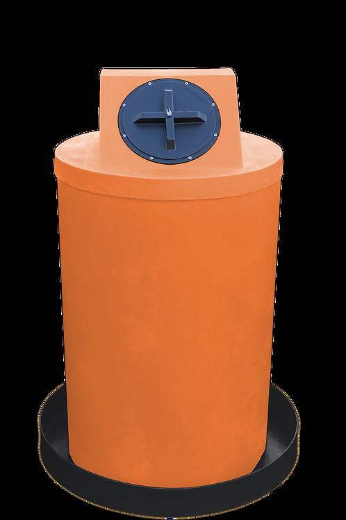 Orange Drum Crown with Black spill pan