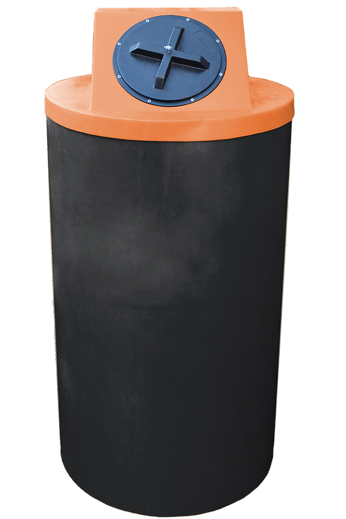 Black Big Bin with Orange lid