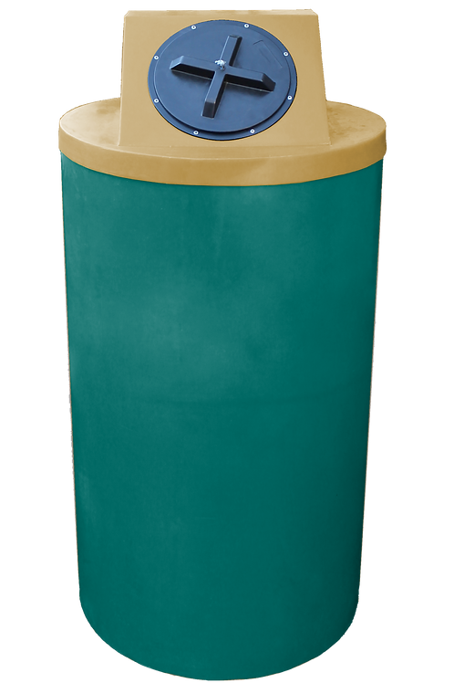 Forest Green Big Bin with Gold Lid