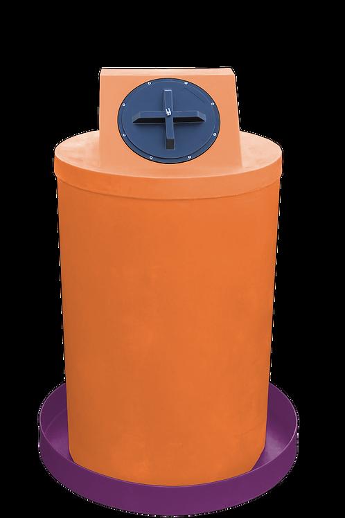 Orange Drum Crown with Wine spill pan