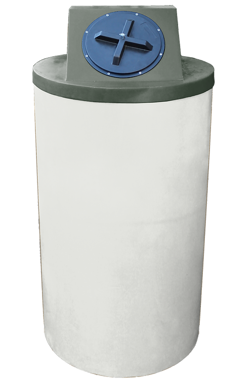 Natural Big Bin with Bottle Green Lid