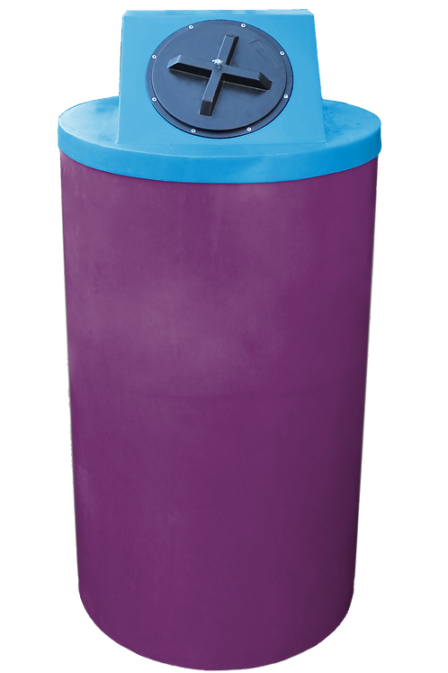 Wine Big Bin with Cadet Blue Lid