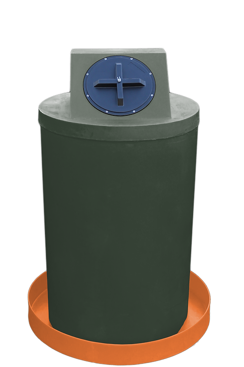 Bottle Green Drum Crown with Orange spill pan