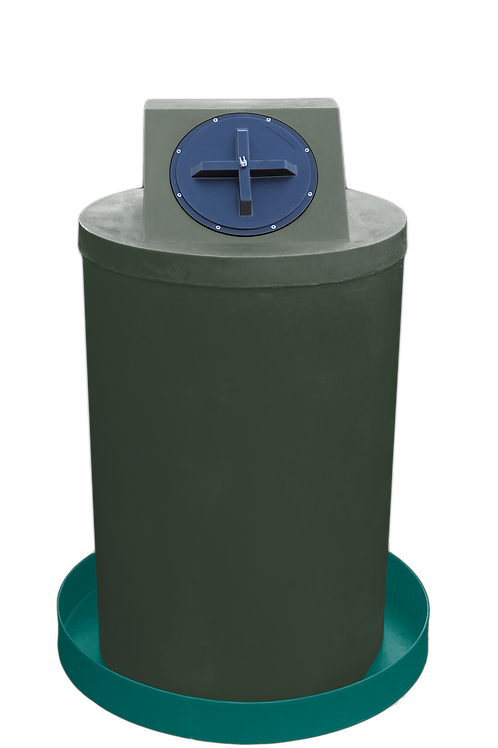 Bottle Green Drum Crown with Forest Green spill pan