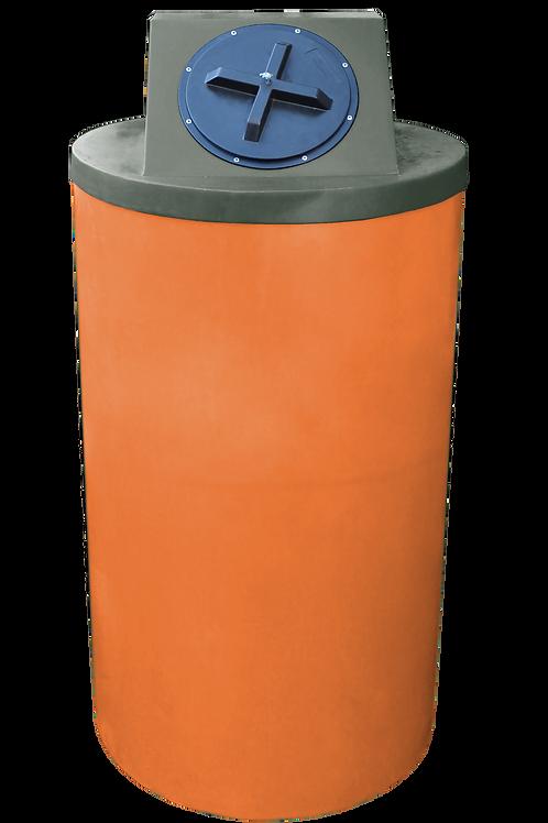 Orange Big Bin with Bottle Green Lid