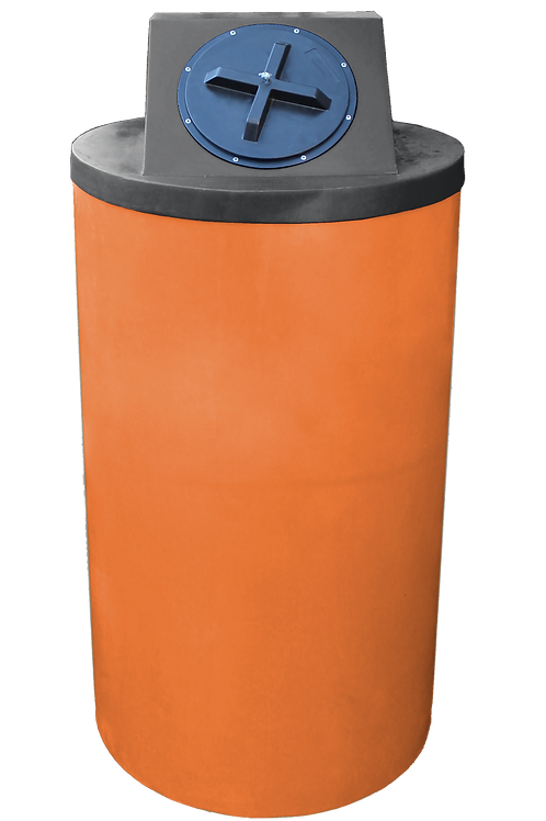 Orange Big Bin with Black Lid