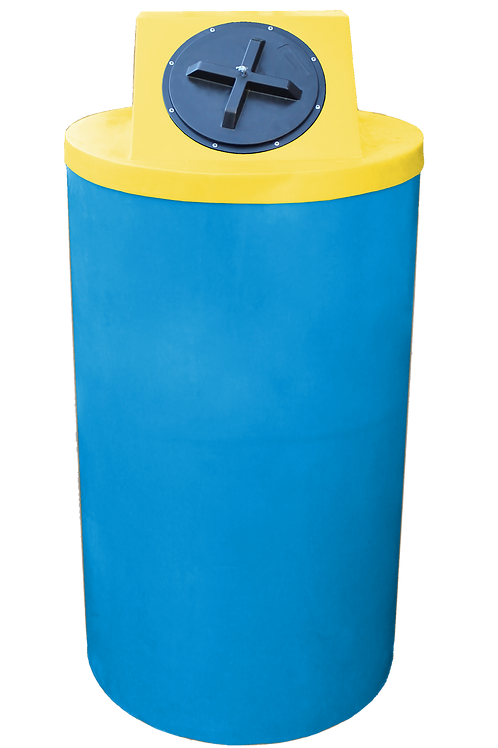 Cadet Blue Big Bin with Yellow Lid