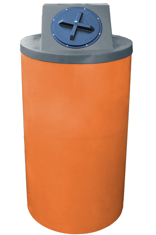 Orange Big Bin with Dark Gray Lid