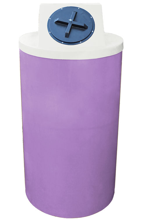Purple Big Bin with Natural Lid