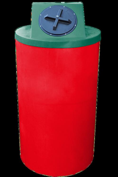 Red Big Bin with Hunter Green Lid