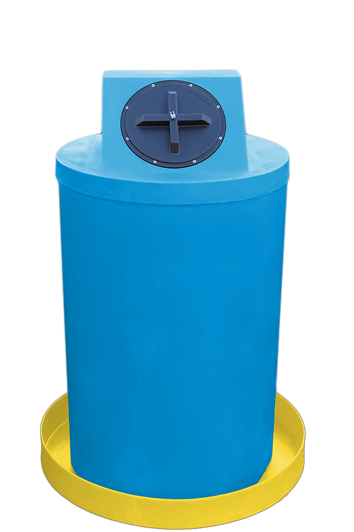 Cadet Blue Drum Crown with Yellow spill pan