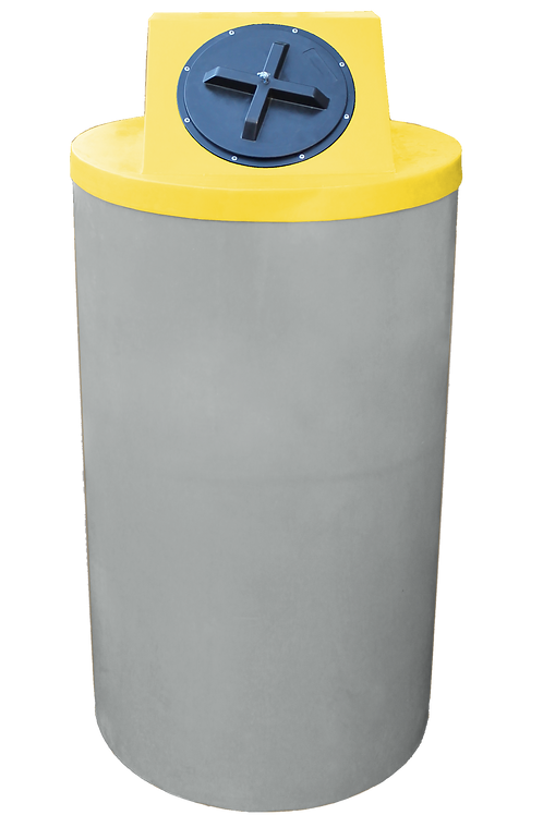 Light Gray Big Bin with Yellow Lid