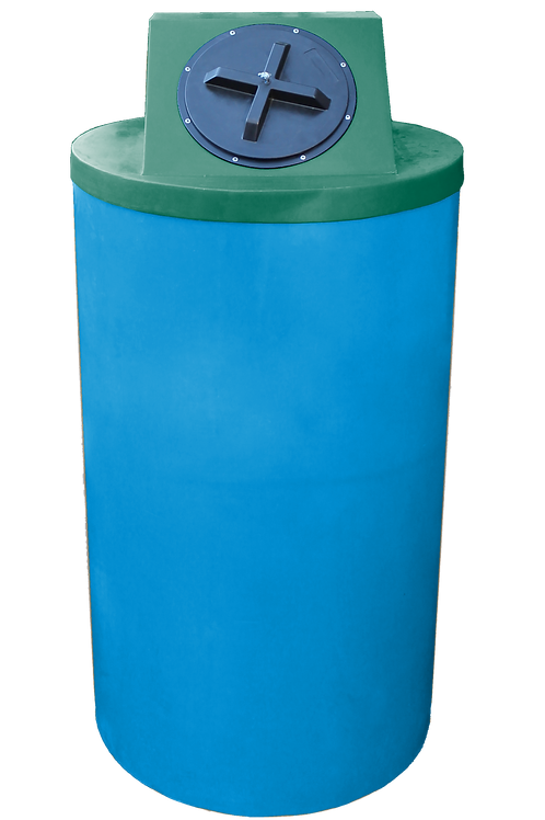Cadet Blue Big Bin with Hunter Green Lid
