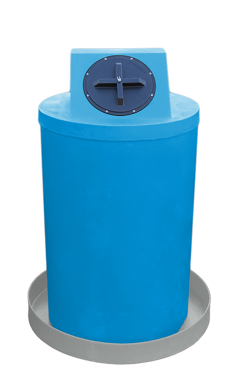 Cadet Blue Drum Crown with Light Gray spill pan