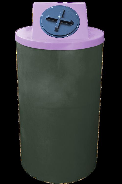 Bottle Green Big Bin with Purple lid