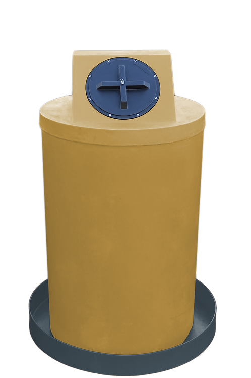 Gold Drum Crown with Dark Gray spill pan