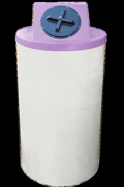 Natural Big Bin with Purple Lid