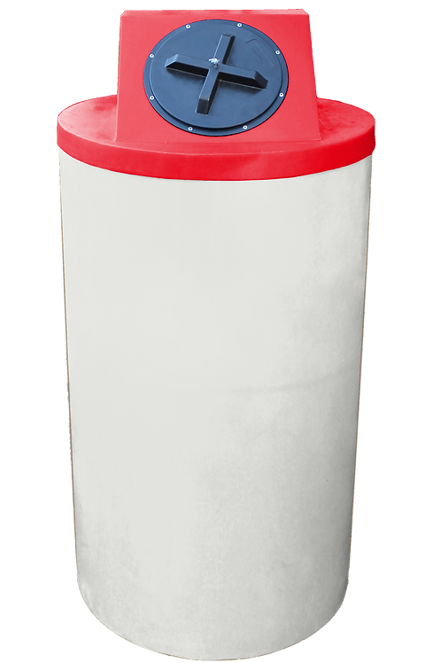 Natural Big Bin with Red Lid