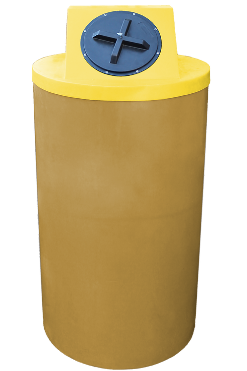 Gold Big Bin with Yellow Lid