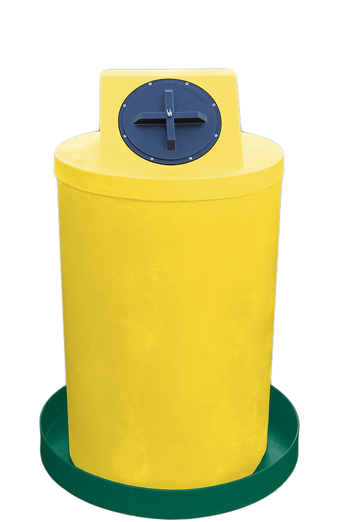 Yellow Drum Crown with Hunter Green spill pan