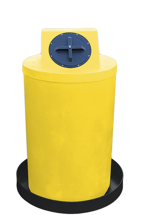 Yellow Drum Crown with Black spill pan