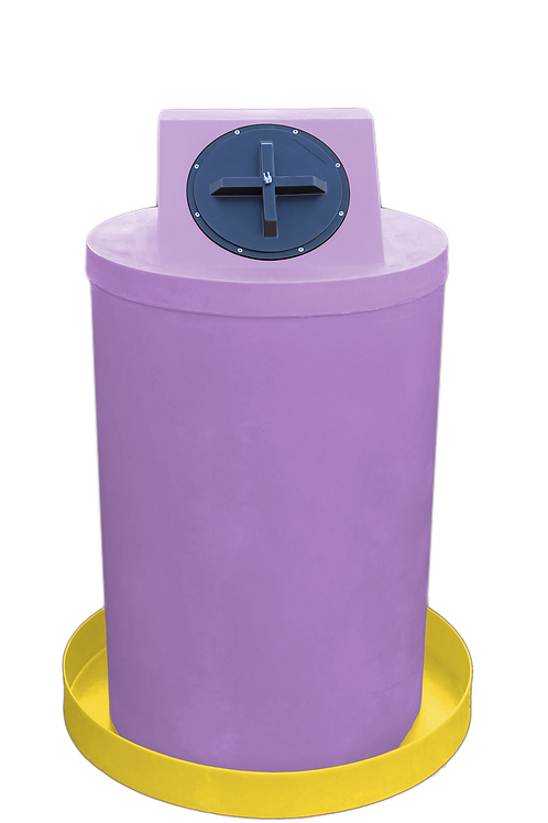Purple Drum Crown with Yellow spill pan