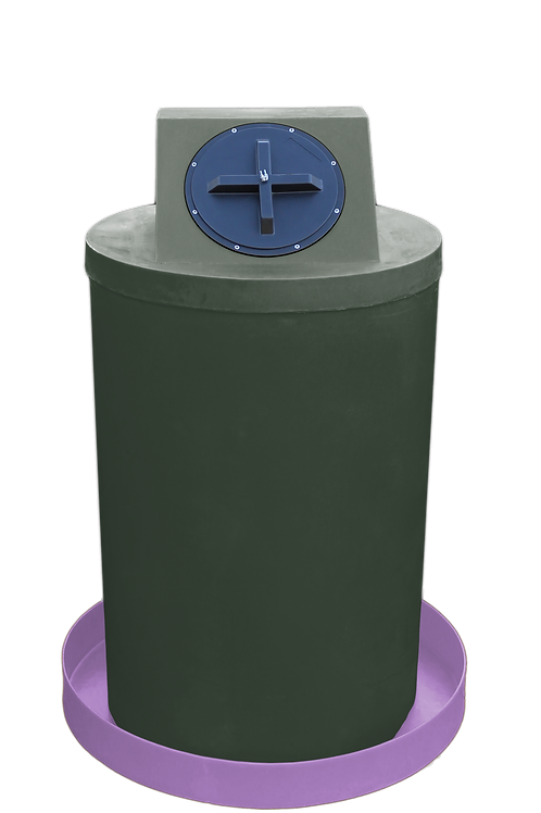 Bottle Green Drum Crown with Purple spill pan