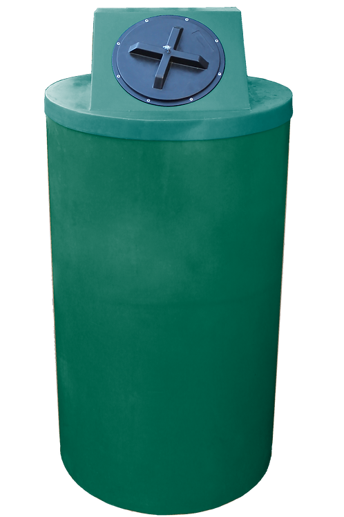 Hunter Green Big Bin with Forest Green Lid