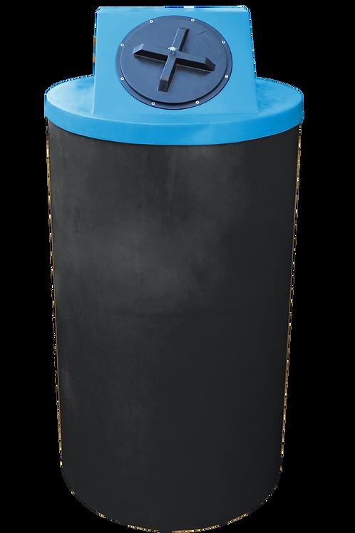 Black Big Bin with Cadet Blue lid