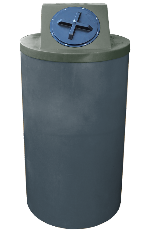 Dark Gray Big Bin with Bottle Green Lid