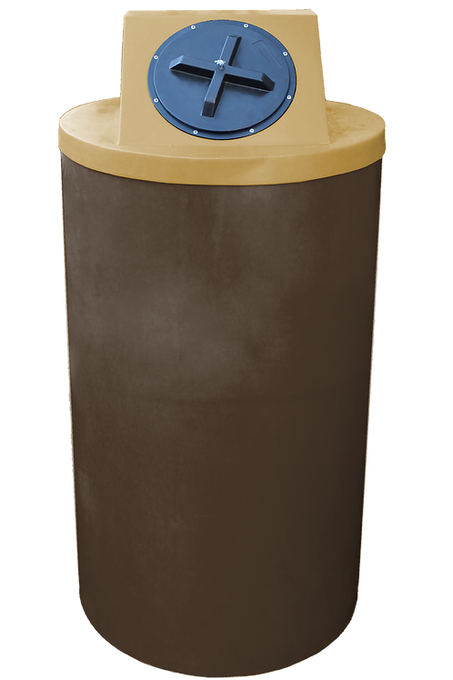 Brown Big Bin with Gold Lid
