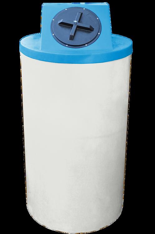 Natural Big Bin with Cadet Blue Lid