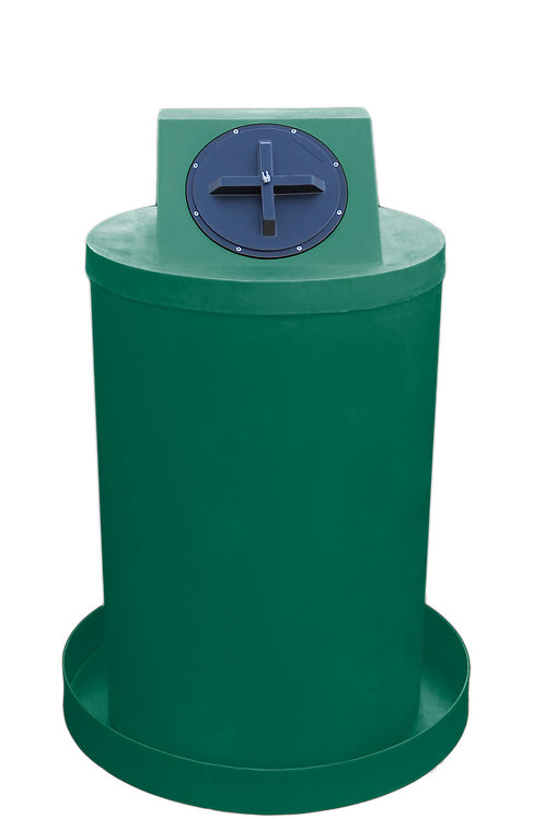 Hunter Green Drum Crown with Hunter Green spill pan