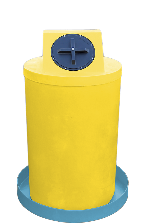 Yellow Drum Crown with Powder spill pan
