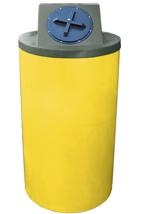 Yellow Big Bin with Bottle Green Lid