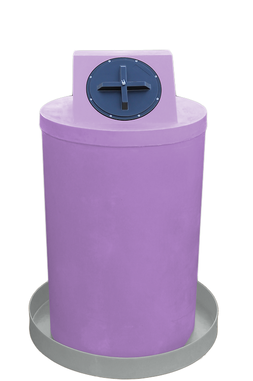 Purple Drum Crown with Light Gray spill pan