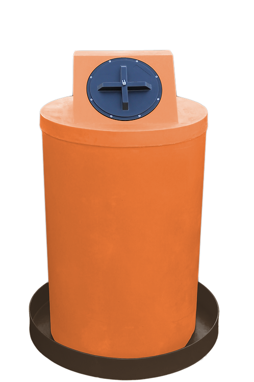 Orange Drum Crown with Brown spill pan