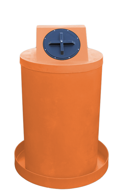 Orange Drum Crown with Orange spill pan