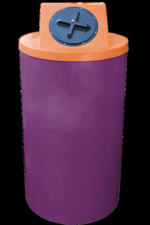 Wine Big Bin with Orange Lid