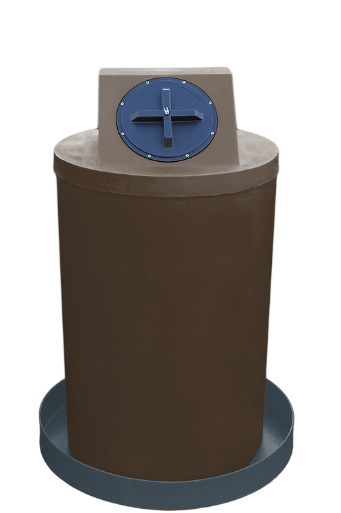 Brown Drum Crown with Dark Gray spill pan