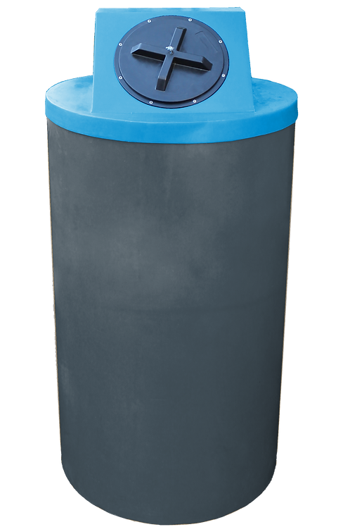 Dark Gray Big Bin with Cadet Blue Lid