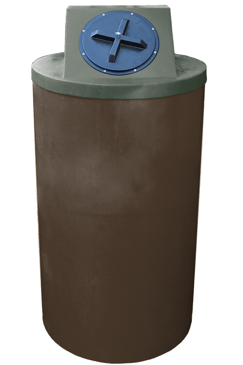 Brown Big Bin with Bottle Green Lid