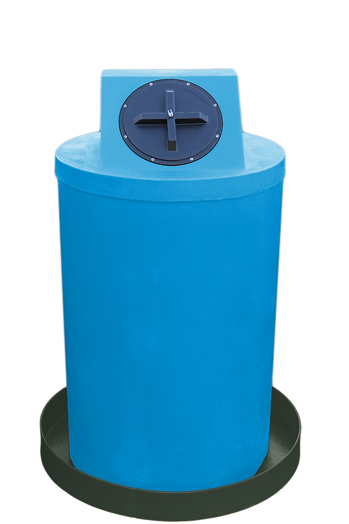 Cadet Blue Drum Crown with Bottle Green spill pan